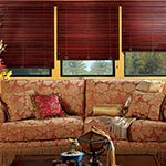 Wood Blinds in Montgomery | CW Expose Cordlock in Livingroom