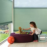 Window Shades in Montgomery | Roman, Roller and PowerRise Shades| duette_literise_childsroom